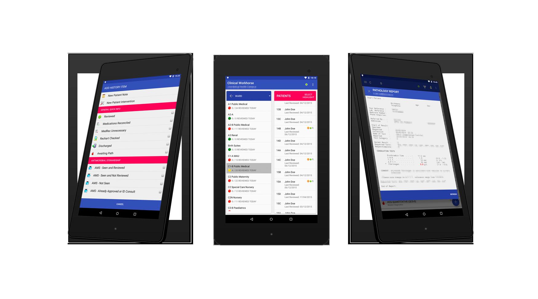 ClinicalWorkhorse Nexus7 Screenshots