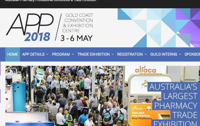 APP2018 webpage screenshot